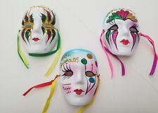 NEW 5 inch Mardi Gras New Orleans Wall 3 Mask  Decor