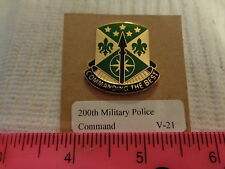 200th Military Police Command V-21 Unit Crest, DI, DUI (DRAW#T2)