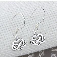 Vintage Jewelry Celtic Knot Drop Earrings Gifts Sterling Silver Dangle Earrings