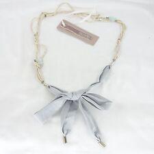 ZUCCHERO Halskette Kette Anhänger Beige Grau Schleife Zierperlen NP 75 NEU