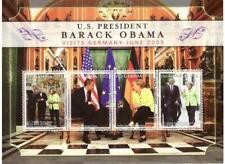 Gambie - Obama En Allemagne 4 Tampon Feuille GAM0924SH
