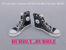 "1/6 Converse All Star Style Men Sneakers BLACK For 12"" Male Figure SHIP FROM USA"
