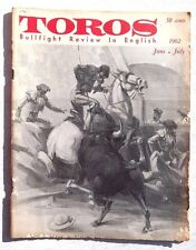 Vintage June July 1962 Toros (Matador) Bullfighting Review In English Magazine