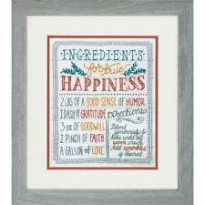 Dimensions Stamped Embroidery Kit - Ingredients For Happiness