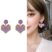 Maple Leaves Stud Earrings l_ Romantic Love Purple Earrings Women Temperament