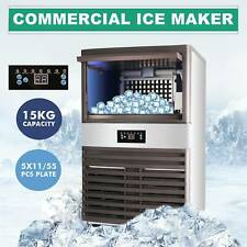 400w 55pc Ice Cube Auto Built In Commercial Ice Maker 160lb24hr Restaurant Bar