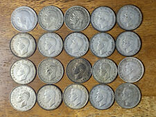 Lot of (20) Great Britain Silver Shilling Coins, 1926-1946