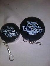 White River Retractable Key Chain Keyring set of 2