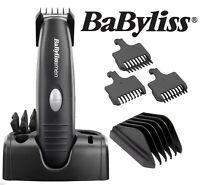 Babyliss Mens Cordless Nose Body Hair Clipper Beard Trimmer Grooming Kit