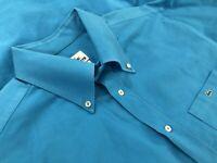 Lacoste Mens 100% Cotton Long Sleeve Button Down Oxford Shirt Blue Size 44