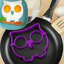 Purple Silicone Funny Owl Skull Fried Frying Mould Breakfast Pancake Mold Ring