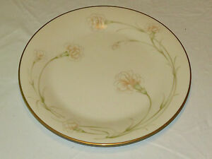 "Noritake Ivory China 7248 Weyburne Japan Dinenr Plate 10 1/2"" gold excellent *^"
