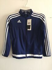 Adidas Tiro 15 Training Jacket Navy White Size YS Boy's Only