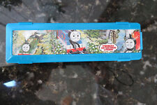 Vintage 1990s Thomas Tank Engine Pencil Box + 3 Pencils Used EUC