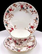 """MINTON ENGLAND #5376 FIFE ANCESTRAL 2 1/4"""" CUP AND SAUCER TRIO 1951-1991"""