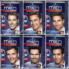 Schwarzkopf - MEN PERFECT Anti Grey Hair Color Gel - Germany.