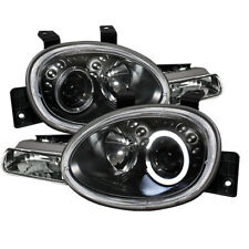 Fit Dodge / Plymouth 95-99 Neon Black Single Halo Projector Headlights Lamps