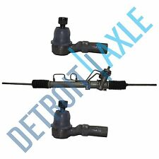 3 pc: Power Steering Rack and Pinion Assembly + 2 New Outer Tie Rod Probe Mazda