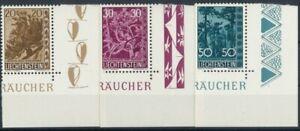 Liechtenstein 1960, Heimatl. Bäume ANK.405-407  HP5322, postfrisch