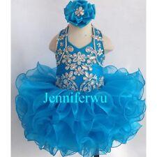 Infant/toddler/kids/baby/children Girl's Glitz Pageant Dress 1-6T G153G