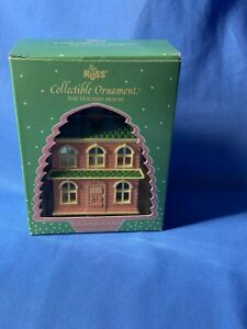 Russ Berrie The Holiday Doll House Christmas Decoration Collectible Ornaments