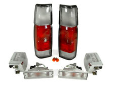 DEPO RED / CLEAR TAIL LIGHTS + CORNER FOR 1990-1997 NISSAN HARDBODY PICKUP TRUCK