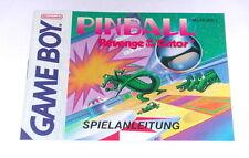 Original Anleitung / manual zu dem Gameboy Spiel Pinball Revenge of the Gator
