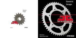 Front and Rear Steel Sprocket Kit for OffRoad HUSABERG 501 Enduro 1990-1995