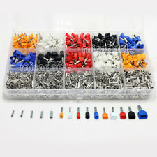 2400pc MIXED Terminals KIT Twin Double Dual Bootlace Ferrule Cable Wire Pin End