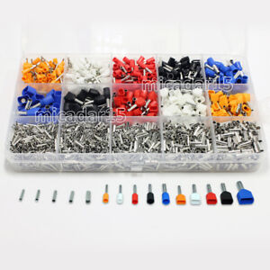 2400 Pcs MIXED Terminals Kit - Twin Dual Bootlace Ferrule Cable Assorted 2340