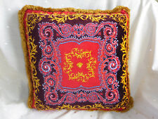 Versace Cushion Blue and Red