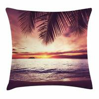 Exotic Palm Tree Throw Pillow Cases Cushion Covers Home Decor 8 Sizes