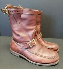 GOKEY Men's 8.5 EE *WIDE* Sandanona Pull On Boots Bullhide Leather Vibram Soles
