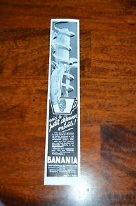 ANCIENNE AFFICHE PUBLICITE  BANANIA année 1937