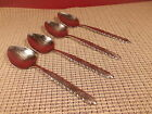"""Oneida Stainless Flatware Rose Queen Pattern 4 Place Oval Soup Spoons 6 7/8"""""""