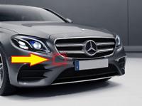 Neu Original Mercedes W213 AMG Vorne Stoßstange Zugöse Kappe Grundiert
