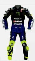 VALENTINO ROSSI YAMAHA MONSTER  MODEL MOTOGP MOTORBIKE LEATHER RACING SUIT