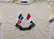 Vintage Polo Ralph Lauren Cross Flags Anniversary Stadium92  Pwing Ski Hi Tech L