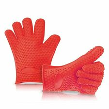 Silicone BBQ Gloves Extreme Water and Heat Resistant Over Gloves, Grill Glove