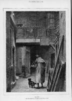 1872 Antique FINE ART Print - BLIND Artist Alfred Walter Bayes (260)