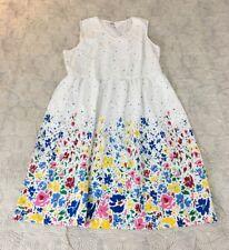 NEW Lanz of Salzburg Sleeveless Summer Floral Print Dress Cotton Sz XL