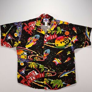 Planet Hollywood Hawaiian Space Island Surf Shirt Size Large L Vintage 90s GUC!