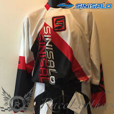 SINISALO RED WHITE MOTORBIKE MOTORCYCLE MX MOTO-X OFFROAD QUAD JERSEY TOP