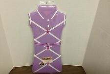 "Preppy Purple Dress Shape Memo Message Photo Board by New View 22""X10"" New"