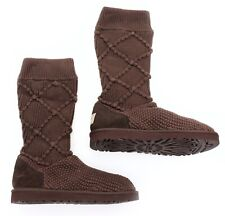 UGG Australia Womens Argyle Knit Classic Cardy Tall Slouch Boots 5879 US 10 NEW