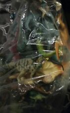 Large Jumbo 7 pounds Lot  Assorted Dinosaurs Thick Plastic with mat/carrier