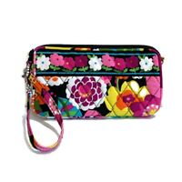 NWOT Vera Bradley Va Va Bloom Wristlet Clutch Purse Floral Fabric Bag