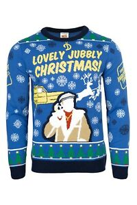 Only Fools and Horses Official Knitted Christmas Jumper Sweater Del Boy