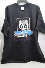 Men's Route 66 Get My Kicks Black Sz.XL T-Shirt