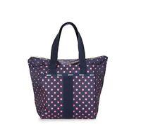 LeSportsac Everyday Tote Bag Purse Pink polka dot MSRP $125 NWT